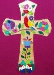El Salvador Bird and Flower Cross