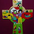 El Salvador Cross with Family