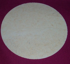 White Family wafers; 145mm diameter. Sourced from Ireland.