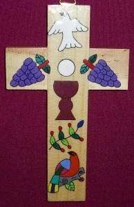 El Salvador First Communion Cross. A fair trade product made by a village community in El Salvador