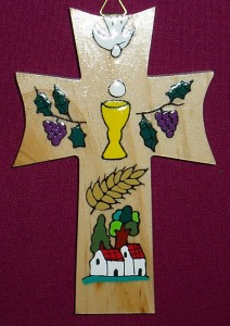 El Salvador First Communion Star Cross. A fair trade product made by a village community in El Salvador