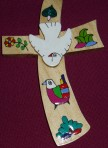 El Salvador Flower and Dove Cross