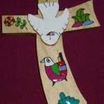 El Salvador Flower and Dove Cross