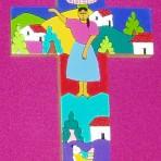 El Salvador Folk Art Cross