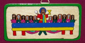 El Salvador Mini Last Supper. A fair trade product made by a village community in El Salvador. A lovely gift for First Holy Communion