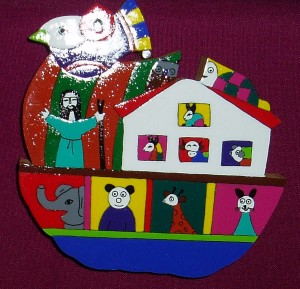 El Salvador Noah's Ark plaque. A fair trade product made by a village community in El Salvador. A lovely gift for young children