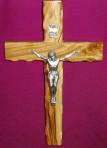 Olive wood crucifix