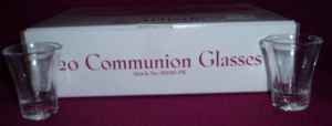 Pack of 20 Communion Glasses, one and a half inches (38mm) tall.