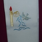 Embroidered Baptism Stole