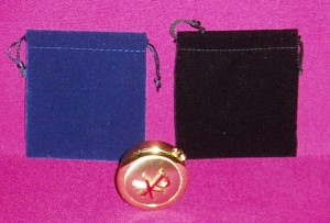 Cloth Pyx Case, available in red, black and blue.