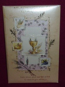 First Communion Keepsake, a memento of the special day.