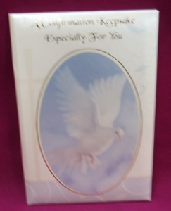 Confirmation Keepsake, with prayers, data record pages, and a place for a photo.