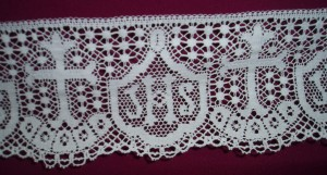 IHS Lace. Available in two widths: 10cm and 15cm
