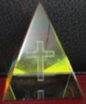 Laser Cut Cross in Pyramid