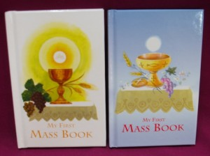 My First Mass Book, an appropriate gift for First Holy Communion.