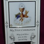 PLC18: First Communion Photo Frame