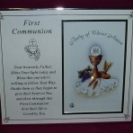 PLC23: First Communion Photo Frame