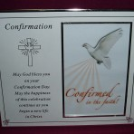 P0184: Confirmation Photo Frame