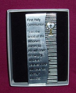 Communion Plaque; a gift for First Holy Communion, in a gift box