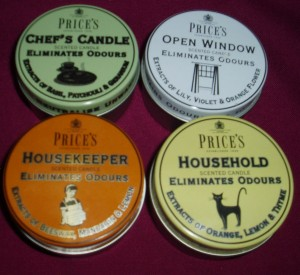 Price's Scented Candle Tins. Available in 5 different scents. A lovely gift item. Ideal for the home or office.