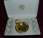 Brasstone 6 Cup Communion Set