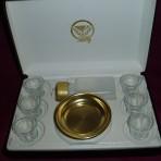 Brasstone 6 Cup Communion Set