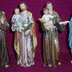 Resin Statues of Saints: 150mm tall