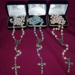 Imitation Mother of Pearl Rosary