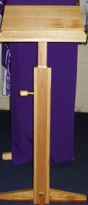 Extendable wooden lectern, handcrafted in Melbourne.