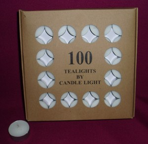 5 hour tealights, box of 100