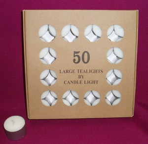 9 Hour Tealights, box of 50