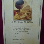 CEC030: First Holy Communion Certificate