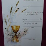 CEC041: First Holy Communion Certificate