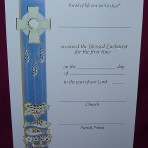 CEC061: First Holy Communion Certificate