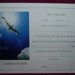 CEF010: Confirmation Certificate