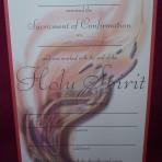 CEF065: Confirmation Certificate