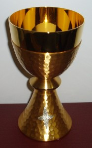 CW3076G: Beaten Gold Chalice