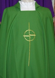 Chasuble, from Italy, available in the 4 seasonal colours.