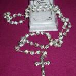 White Cloisonne Rosary