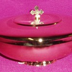 Gold Paten Ciborium with lid