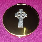 PS143: Pyx with Celtic Cross emblem