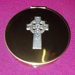 PS143: Pyx with Celtic Cross emblem