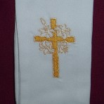 Hand Embroidered Baptism Stole