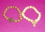 Rose Bead Wooden Bracelet