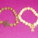 Rose Bead Wooden Bracelet