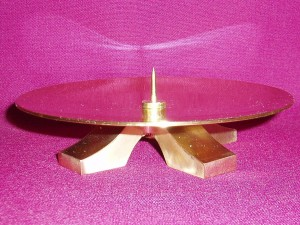 Brass Candle Holder, made in Australia