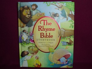 A book of rhyming bibles stories with beautiful illustrations.