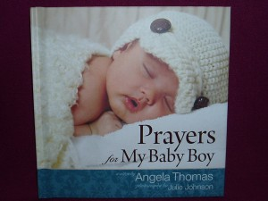 A Book of prayers and photos for a mother.