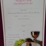 CEC055: First Communion Certificate
