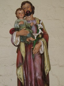 This large statue of St Joseph stands 94cm tall.